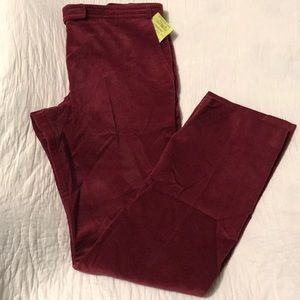 French Connection Diagonal Corduroy Deep Red Pants